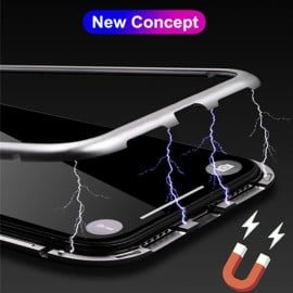 Vaku ® Apple iPhone 6 / 6S Electronic auto-fit Magnetic Wireless Edition Metal Glass Ultra-Thin CLUB Series Back Cover
