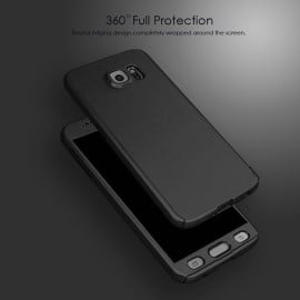 i-Paky ® Samsung Galaxy Grand 2 360 Full Protection Metallic Finish 3-in-1 Ultra-thin Slim Front Case + Tempered + Back Cover