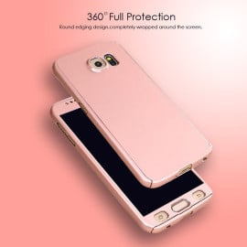 i-Paky ® Samsung Galaxy J2 360 Full Protection Metallic Finish 3-in-1 Ultra-thin Slim Front Case + Tempered + Back Cover