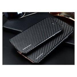 WUW ® Apple iPhone 6 Plus / 6S Plus Carbon Fiber Finish Ultra-Light & Thin Grip Flip Cover