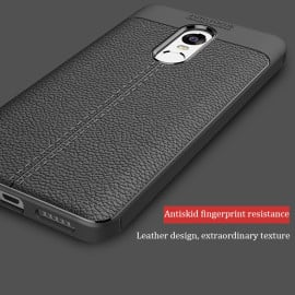 Vaku ® Xiaomi Redmi Note 5 Kowloon Leather Stitched Edition Top Quality Soft Silicone 4 Frames + Ultra-Thin Back Cover