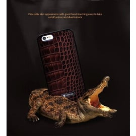 Comma ® Apple iPhone 6 / 6S Trex Series Croco Finish Luxurious Genuine Italian Leather Back Cover