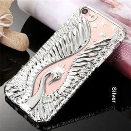 Shengo ® Apple iPhone SE 2020 3D Printed Swan Series Soft TPU Back Cover