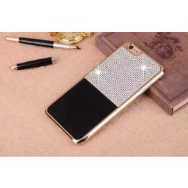 iSecret ® Apple iPhone 6 / 6S Luxury Swarovski Diamond Leather + Gold Electroplating Back Cover