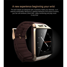 SmartWatch ® GV08S 1.5 inch Touchscreen 2.0M Camera Support + SIM Card + Bluetooth + Pedometer