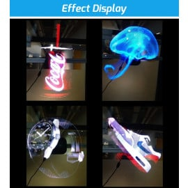 VAKU ® 3D Holographic projector LED light advertising display with micro SD Card