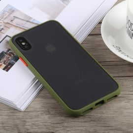 Vaku ® Apple iPhone XS Max Translucent Armor Case with 3 sets of Colored buttons PC Case