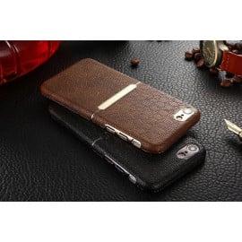 VAKU ® Apple iPhone 7 Plus / 8 Plus Ramada Series Stucco Persian Engraved Italian Leather Shell with Metallic Logo Display Back Cover