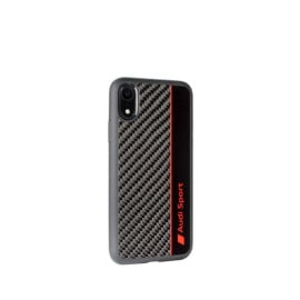 AUDI ® Apple iPhone XR Official Audi R8 Sport Carbon Fiber Gloss Back Cover