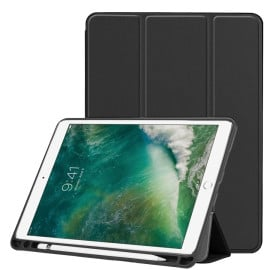Vaku ® Apple iPad 9.7 Aniline Texture Series 360 Degree shock-proof Water-resistant Magnetic Stand Flip Cover with Pencil Holder