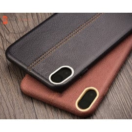 Vaku ® Oppo F1 Plus Lexza Series Double Stitch Leather Shell with Metallic Camera Protection Back Cover