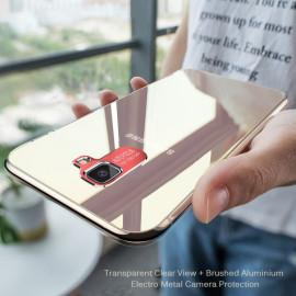 Vaku ® Samsung Galaxy J7 Prime / J7 Prime 2 Metal Camera Ultra-Clear Transparent View with Anodized Aluminium Finish Back Cover