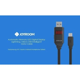 Joyroom ® Automatic Memory Digital LED Display Intelligent Android/Windows Micro USB Charging / Data Cable