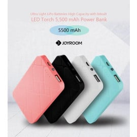 Joyroom ® Ultra Light 5500mAh LiPo Batteries High Capacity with Inbuilt LED Torch 5,500 mAh Power Bank