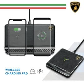 Lamborghini ® Huracan D10 Genuine Leather Carbon Fiber Wireless Charging Pad
