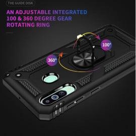 Vaku ® Samsung Galaxy M40 Armor Ring Shock Proof Cover with Inbuilt Kickstand