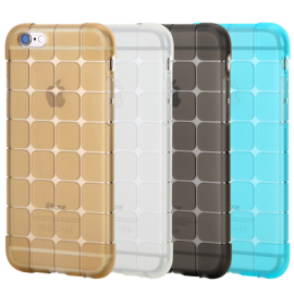 Case Cube ® Apple iPhone 6 / 6S Luxury Transparent PC Gold Label Case Series Back Cover