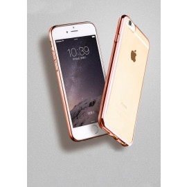 MeePhone ® For Apple iPhone 6 Plus / 6S Plus Noble Series Metal Electroplating Bumper Transparent Back Cover