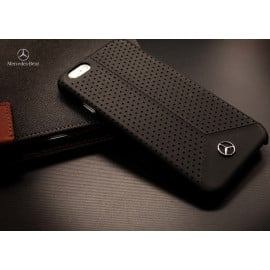 Mercedes Benz ® Apple iPhone 8 Pure Line Perforated Genuine Leather Hard Case Back Cover
