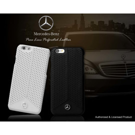 Mercedes Benz ® Apple iPhone 6 Plus / 6S Plus Pure Line Perforated Genuine Leather Hard Case Back Cover