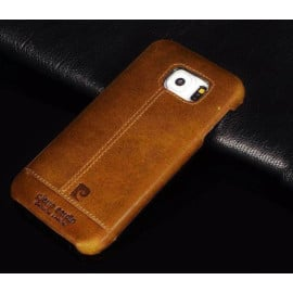Pierre Cardin ® Samsung Galaxy S7 Paris Design Premium Leather Case Back Cover