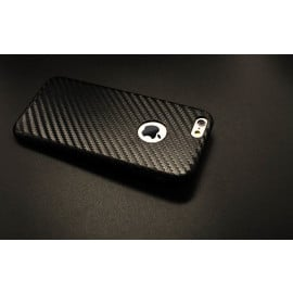 VAKU ® Apple iPhone 6 / 6S Carbon Fiber Finish Ultra-Light & Thin Logo Display Grip Back Cover