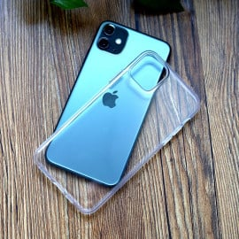 Luxos ® For Apple iPhone 11 / 11 Pro / 11 Pro Max Glassy Transparent Hard Case [Back Cover]