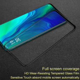 Dr. Vaku ® Oppo Reno 10X 6D Curved Edge Ultra-Strong Ultra-Clear Full Screen Tempered Glass Black