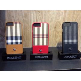 Santa Barbara Polo Club ® Apple iPhone 7 Plaide Series Chequered Design Elegant Faux Leather Back Cover