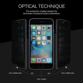 Dr. Vaku ® iPhone 6 / 6S Anti-Peeping Light Reflecting Privacy Full Screen Tempered Glass