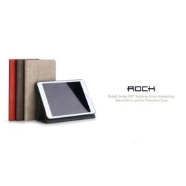 Rock ® Apple iPad Mini 3 Rotate Series 360 Rotating Smart Awakening with Stand Retro Leather Flip Cover