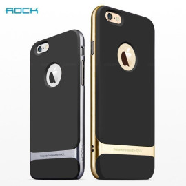 Rock ® Apple iPhone 6 / 6S Royle Case Ultra-thin Dual Metal Soft / Silicon Case