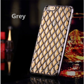 MeePhone ® For Apple iPhone 6 Plus / 6S Plus Diamond Cube 4D Reflective Luxury Gold Electroplated Soft TPU Gel Back Cover