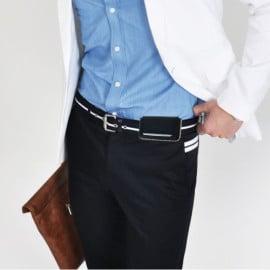 Pierre Cardin ® Apple iPhone 6 / 6S Luxurious Hand Stitch Premium Metal Clip Waist Leather Case Pouch Case
