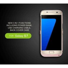 Vaku ® Samsung Galaxy S7 4800mAh Rechargeable Power Bank Protective Case + Kickstand Back Cover