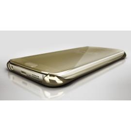 Vaku ® Samsung Galaxy A3 (2016) Mate Smart Awakening Mirror Folio Metal Electroplated PC Flip Cover
