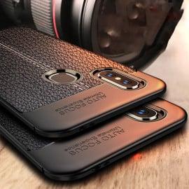 Vaku ® Xiaomi Redmi Note 5 Pro Kowloon Double-Stitch Edition Silicone Leather Texture Finish Ultra-Thin Back Cover