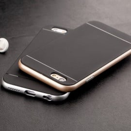Joyroom ® Apple iPhone 6 Plus / 6S Plus Silicone SoftTouch Grip Ultra-Fit Durable Smart Coat Protective Case + Metallic Finish Bumper Back Cover