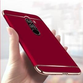 Vaku ® Xiaomi POCO F1 Ling Series Ultra-thin Metal Electroplating Splicing PC Back Cover