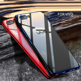 Vaku ® VIVO Y69 CAUSEWAY Series Top Quality Soft Silicone 4 Frames + Ultra-thin Transparent Cover