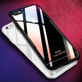 Vaku ® Apple iPhone 8 GLASSINO Wireless Edition Soft Silicone 4 Frames Plus Ultra-Thin Case Transparent Cover