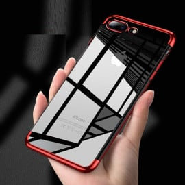 Vaku ® Apple iPhone 7 Plus CAUSEWAY Series Top Quality Soft Silicone 4 Frames + Ultra-thin Transparent Cover