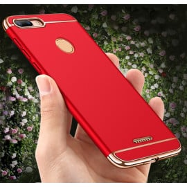 Vaku ® Xiaomi Redmi 6 Ling Series Ultra-thin Metal Electroplating Splicing PC Back Cover