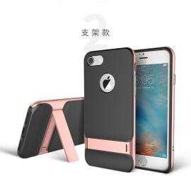 Rock ® Apple iPhone 7 Plus / 8 Plus Royle Case Ultra-thin Dual Metal + inbuilt Stand Soft / Silicon Case