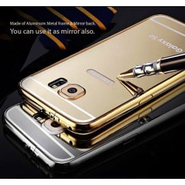 Xuenair ® Samsung Galaxy S6 Mirror Finish Ultra Slim Metal Electroplating Arc Aluminium Bumper + Back Cover