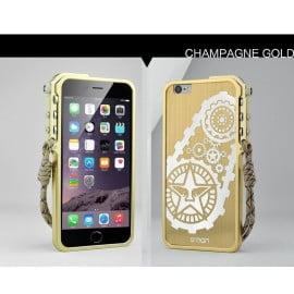 Simon ® Apple iPhone 6 Plus / 6S Plus Metallic Mechanical Trigger Arm Premium Aluminium Gear Bumper + Back Cover