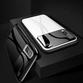 Vaku ® Samsung Galaxy A7 (2018) Polarized Glass Glossy Edition PC 4 Frames + Ultra-Thin Case Back Cover