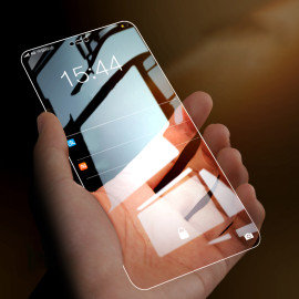 Dr. Vaku ® Samsung Galaxy M20 5D Curved Edge Ultra-Strong Ultra-Clear Full Screen Tempered Glass