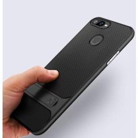 Vaku ® Oppo Realme 2 Pro Royle Case Ultra-thin Dual Metal Soft + inbuilt stand soft/ Silicon Case