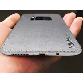 Vaku ® Samsung Galaxy S8 Luxico Series Hand-Stitched Cotton Textile Ultra Soft-Feel Shock-proof Water-proof Back Cover